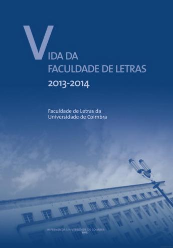 CAPA DE LIVRO VIDA DA FACULDADE DE LETRAS 2013-14